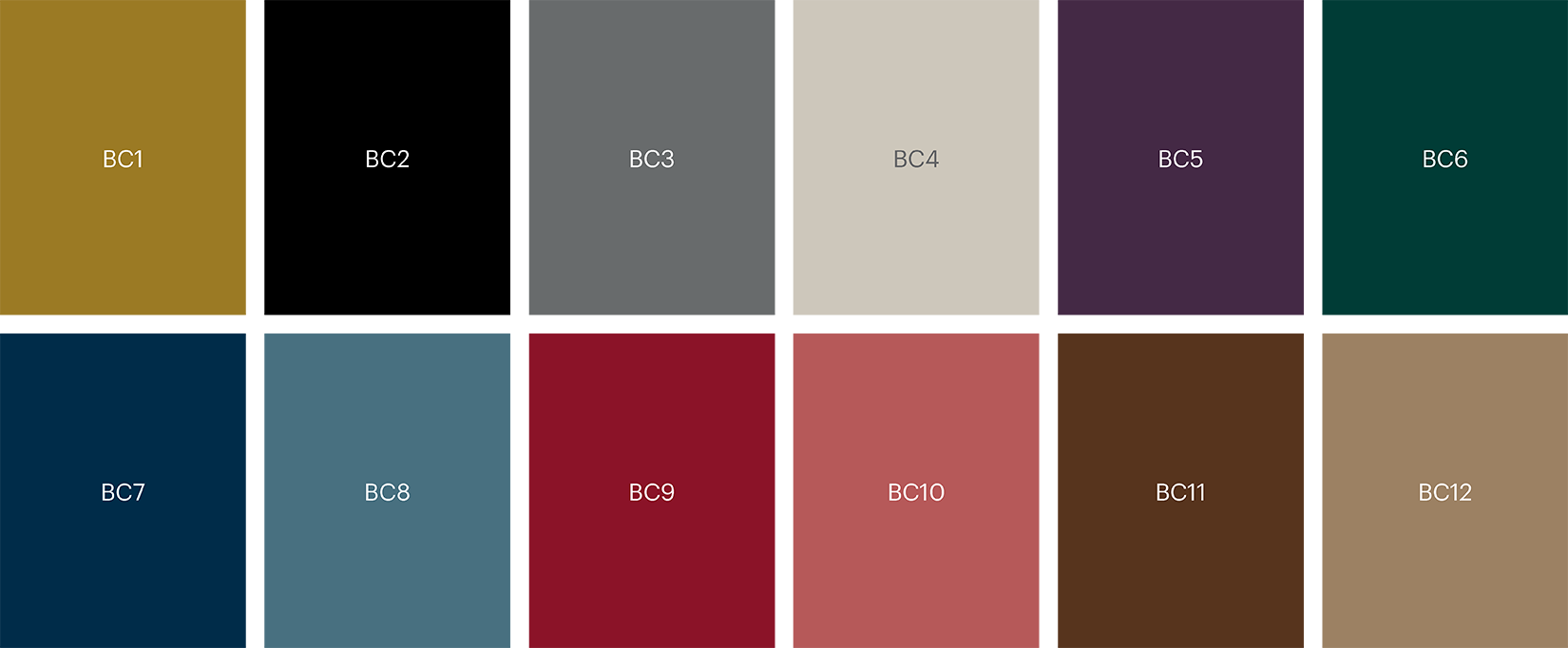 5500 Base colour palette