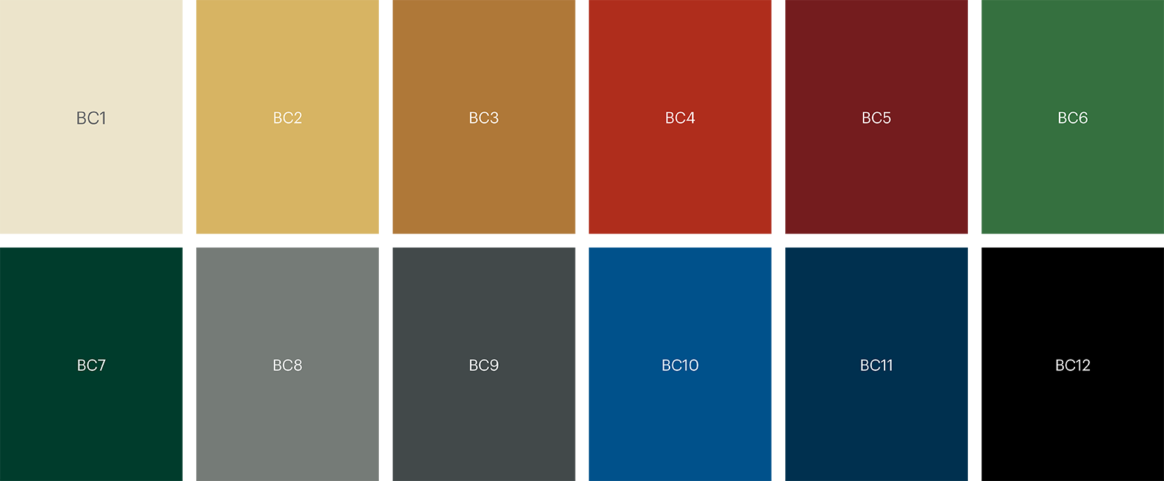 5520 Base colour palette