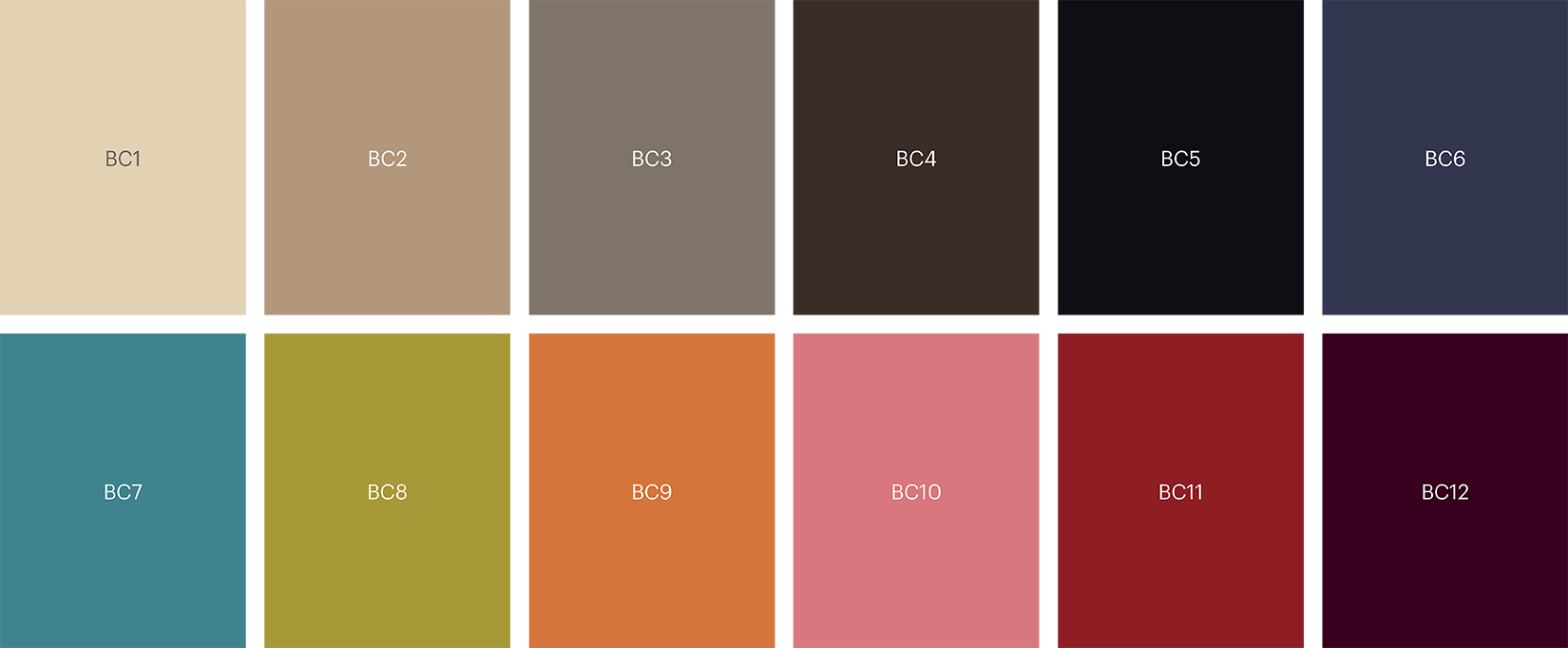 5575 Base colour palette