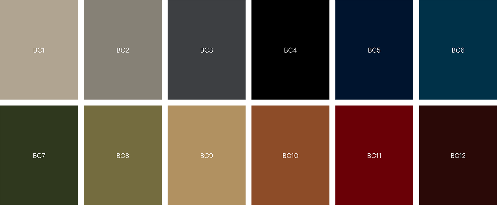 5595 Base colour palette